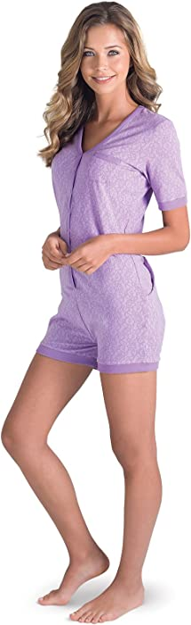 Amazon.com  PajamaGram One Piece Pajamas for Women - Onesie with ... 0d4159b63