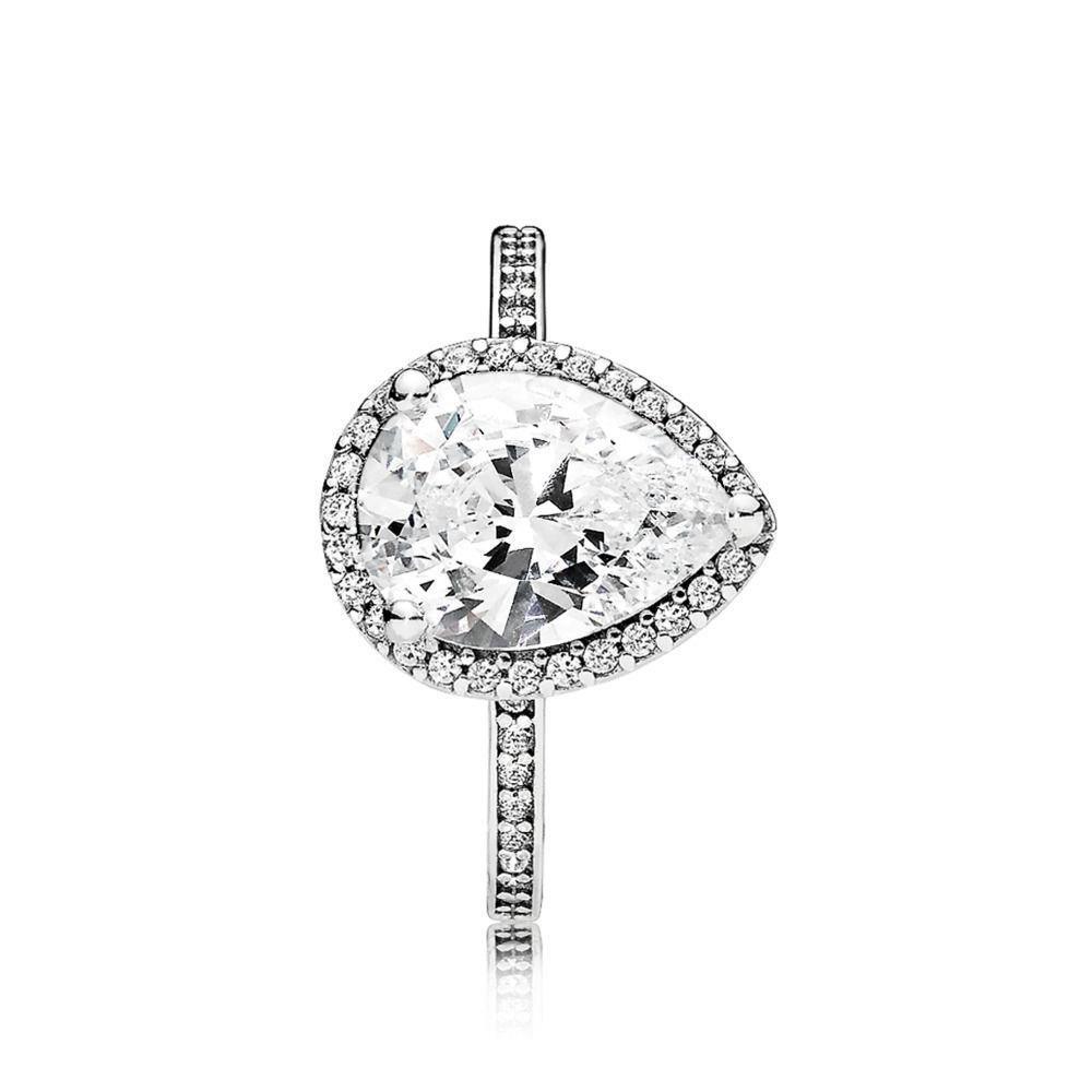 c08bf4253 Pandora Women Silver Piercing Ring - 196251CZ-58: Amazon.co.uk: Jewellery