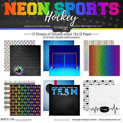 - Scrapbook Customs Hockey Neon Scrapbook Kit