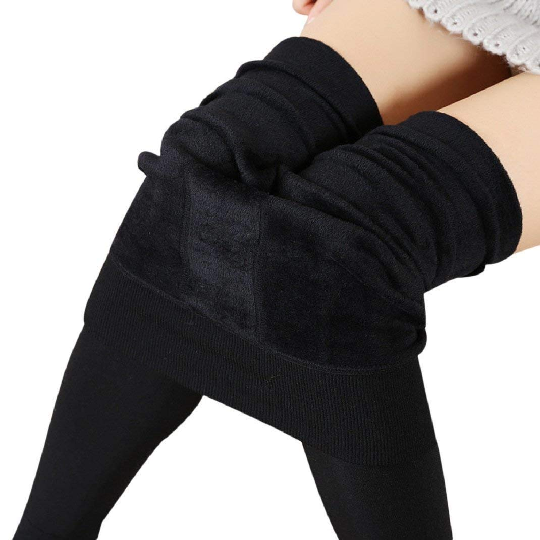 FIRM ABS Fleece Lined Thermal Leggings, Tummy Control Ultra Soft Winter Warm Pant