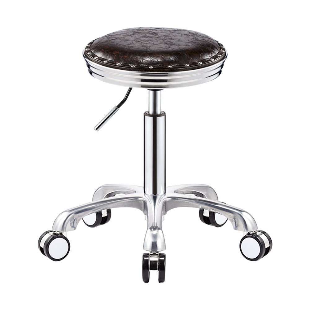 6 50cm Stylish Adjustable Gas Lift Swivel&Removeable PU Leather Hairdressing Manicure Tattoo Therapy Beauty Massage Spa Salon Stool Chair (color   2, Size   50cm)