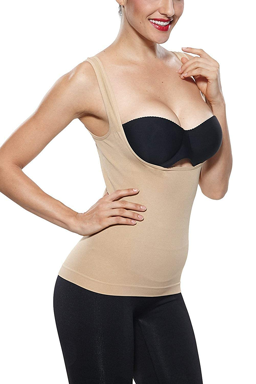 Belugue Womens Shapewear Torsette Control Tank Tops Body Shaper Camis