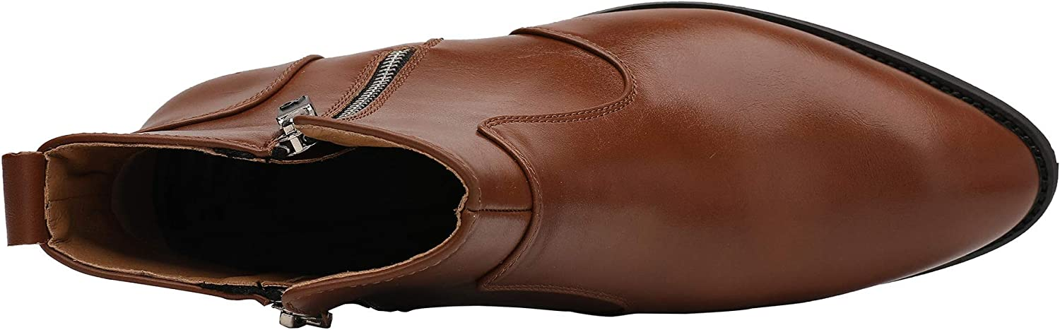 Yaer Mens Classic Chelsea Ankle Dress Boots Waterproof Leather Boots