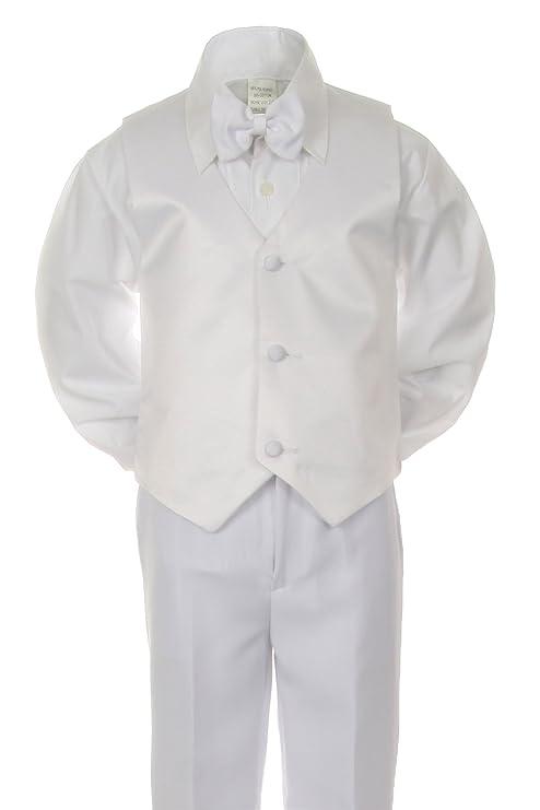 unotux niños blanco Formal bautismo primera Comunión chaleco Set ...