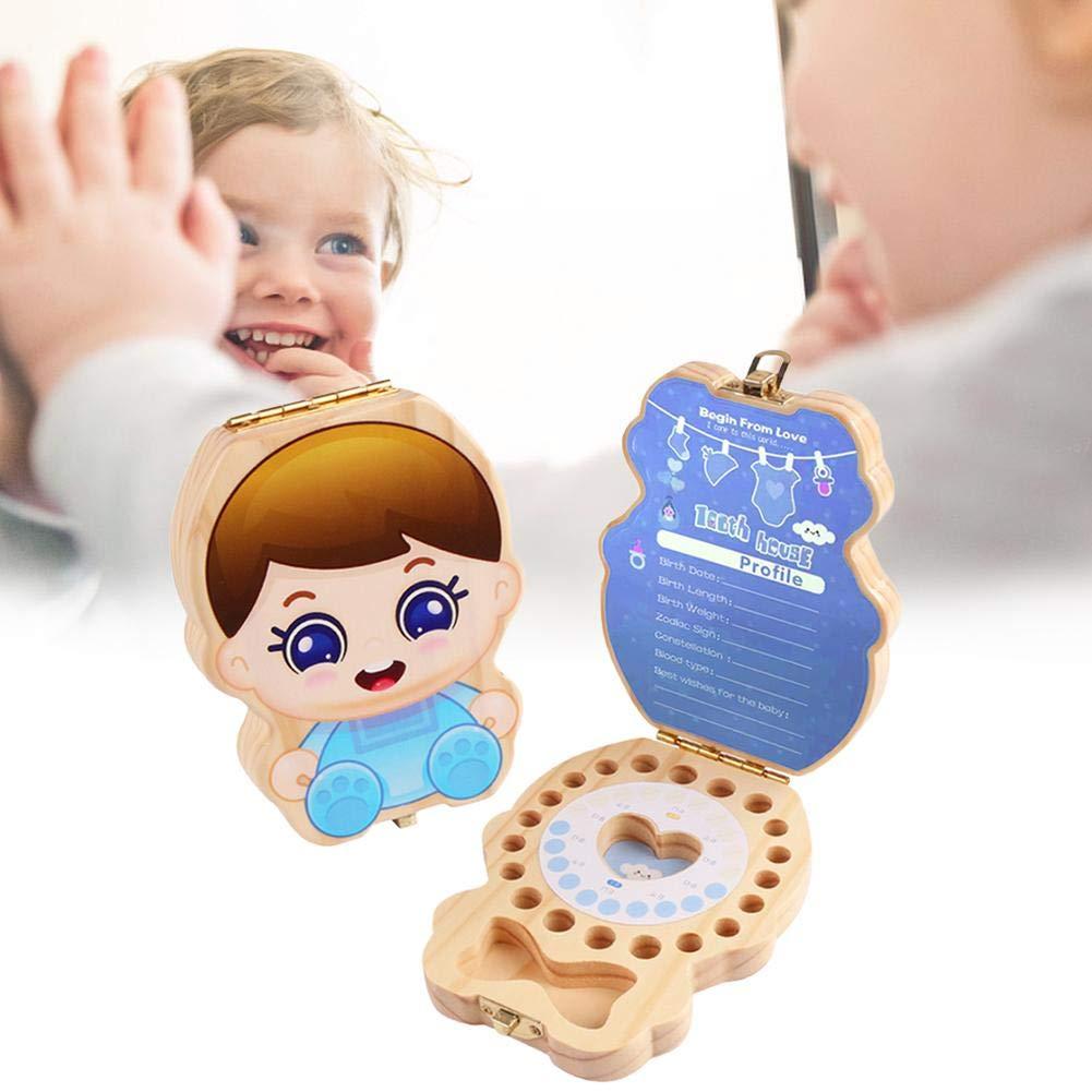 Baby-Zahnkasten Baby Zahn Aufbewahrungsbox Aufbewahrungsbox Zahn Box Milchz/ähne Sammlung Aufbewahrung Kinder Souvenir Box aus Holz handgefertigte Souvenir dauerhaft