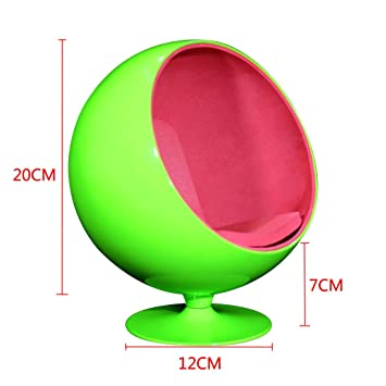 Baoblaze 1/6 Rotatable Ball Pod Globe Chair Sofa Dolls House Miniature For  Hot Toys
