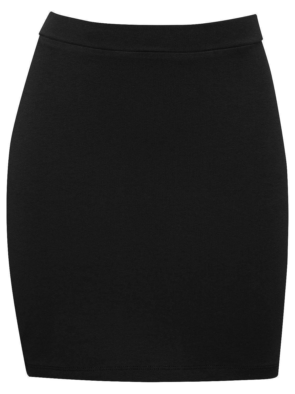 M/&Co Teen Girls Light Stretch Comfort Plain Coloured Pull On Short Tube Skirt Black 134//140