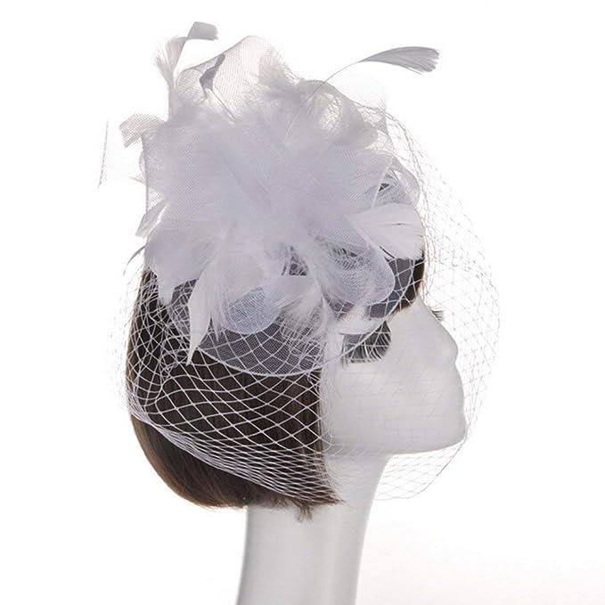Gorros Sombrero De Boda Boda De Sombrero Cóctel Elegante Modernas Casual  Pluma Flores Sombrero Boda Accesorios 3642e6e5521