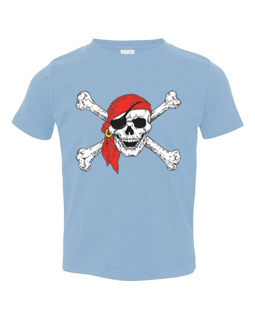 P&B Pirate Skull Red Bandanna Party Toddler T-Shirt PIR8SKLLTDLR
