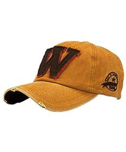 Ularma Moda unisex letra W Hockey béisbol gorras sombreros Hip Hop (Talla única, A)