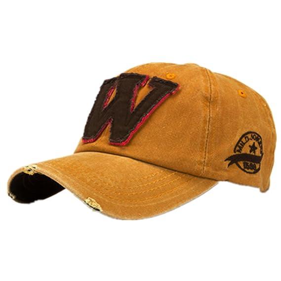 Ularma Moda unisex letra W Hockey béisbol gorras sombreros Hip Hop (Talla  única 105bda78d99
