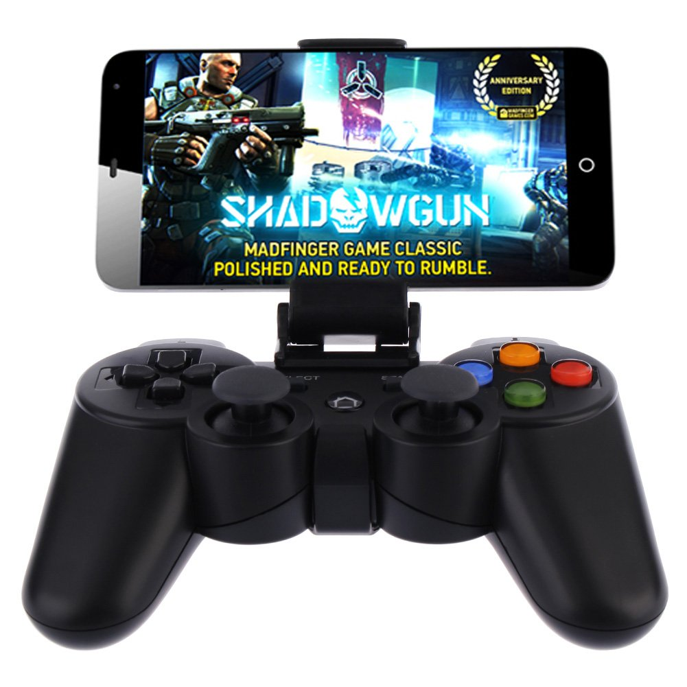 Android Wireless Game Controller, Baigeda Bluetooth Gamepad Joystick Remote for Android Devices (Phone/Tablet/Pad/TV/TV BOX/Samsung Gear VR/Fire Stick), Rechargeable Joypad with Clip for Smartphone