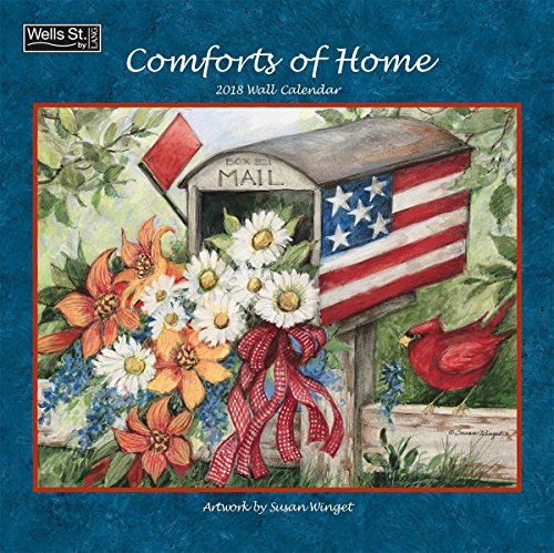 Comforts of Home 2018 Monthly Wall Calendar 12x12 Inches - Includes One Sheet of 240 Reminder Stickers