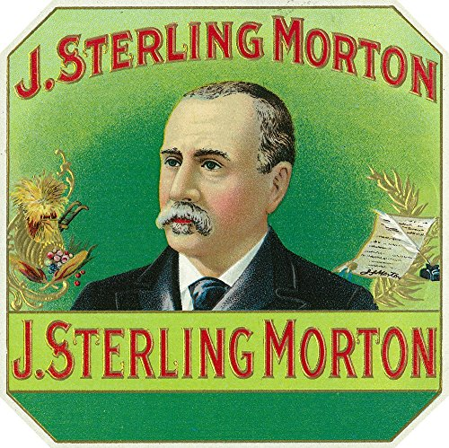 J. Sterling Morton Brand Cigar Outer Box Label - Grover Cleveland's Secretary of Agriculture (16x24 Fine Art Giclee Gallery Print, Home Wall Decor Artwork Poster)