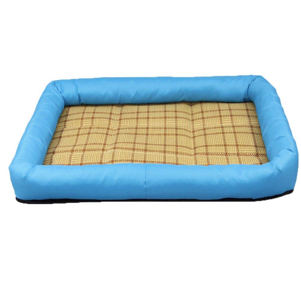 bluee 67587cm bluee 67587cm Dog Houses Small Dogs Teddy Mats Summer Mats Pets Nest Medium Dog Cats Nest,bluee-67587cm
