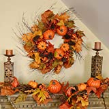 Fall Berry & Pumpkin 6' Garland