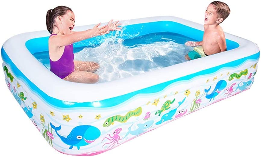 YULAN Infantil Piscina Inflable Espesado niños for Adultos Kids Pool bebé Familia de baño Piscina (Size : 210X150X60cm)
