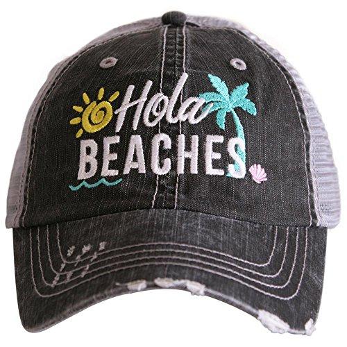 Hola Beaches Women's Trucker Hats Caps Beach Cap