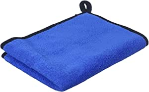 Al Hayah Double-Faced Microfiber Car Cleaning Towel, 30×40 centimeters - Grey and Blue