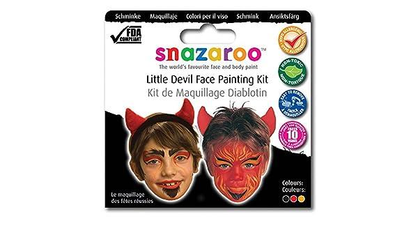 NEW SNAZAROO Devil Makeup Pack Halloween Face Paint (Maquillaje/ Pintura de Cara): Bristol Novelty: Amazon.es: Juguetes y juegos