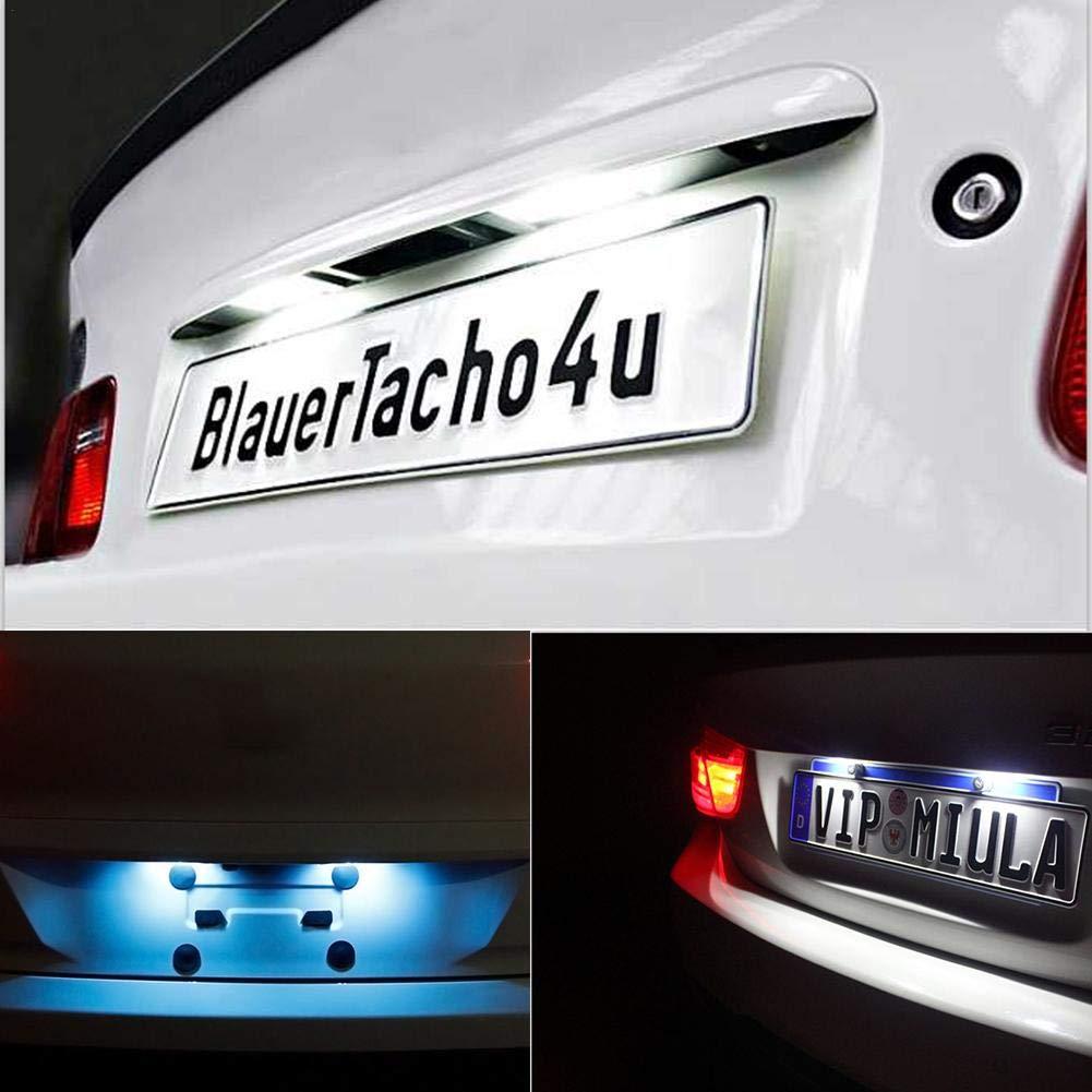 favourall 2pcs LED Luce Targa Auto Luce della Targa Bianco 12V Luce Targa Fanale Posteriore LED Luce Portatarga Universale per Toyota Camry Yaris Vitz Prius Corolla Fielder