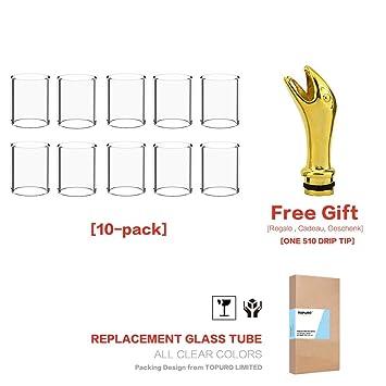 (10- Pack) Topuro Pyrex Glas für Melo III (Melo 3) Ersatz 22*30mm