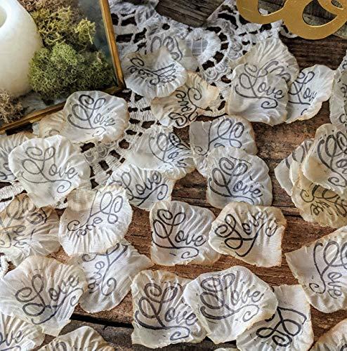 Rustic Wedding Decorations, Table Scatter, Silk Rose Petals, Love Confetti ()