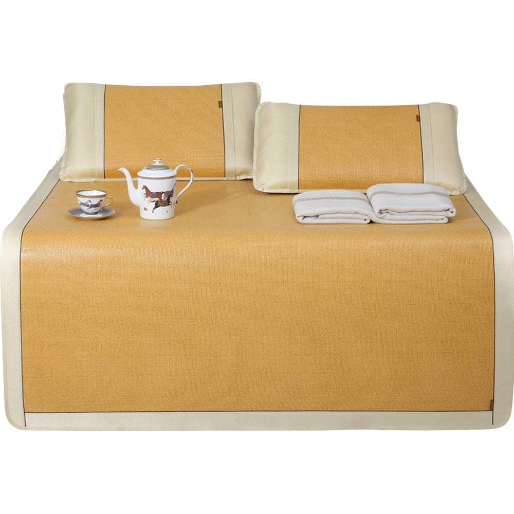 WJ 夏用スリーピングマット 籐クールマット - 家庭用折りたたみ式肥厚夏のソフトで快適な滑らかなマット - 2サイズ利用可能 /-/ (サイズ さいず : 180X200cm) B07RX98X4R  180X200cm