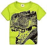 2Bunnies Little Boys Toddler Dinosaur T Rex Short Sleeve Tee T Shirt (3T, Green)