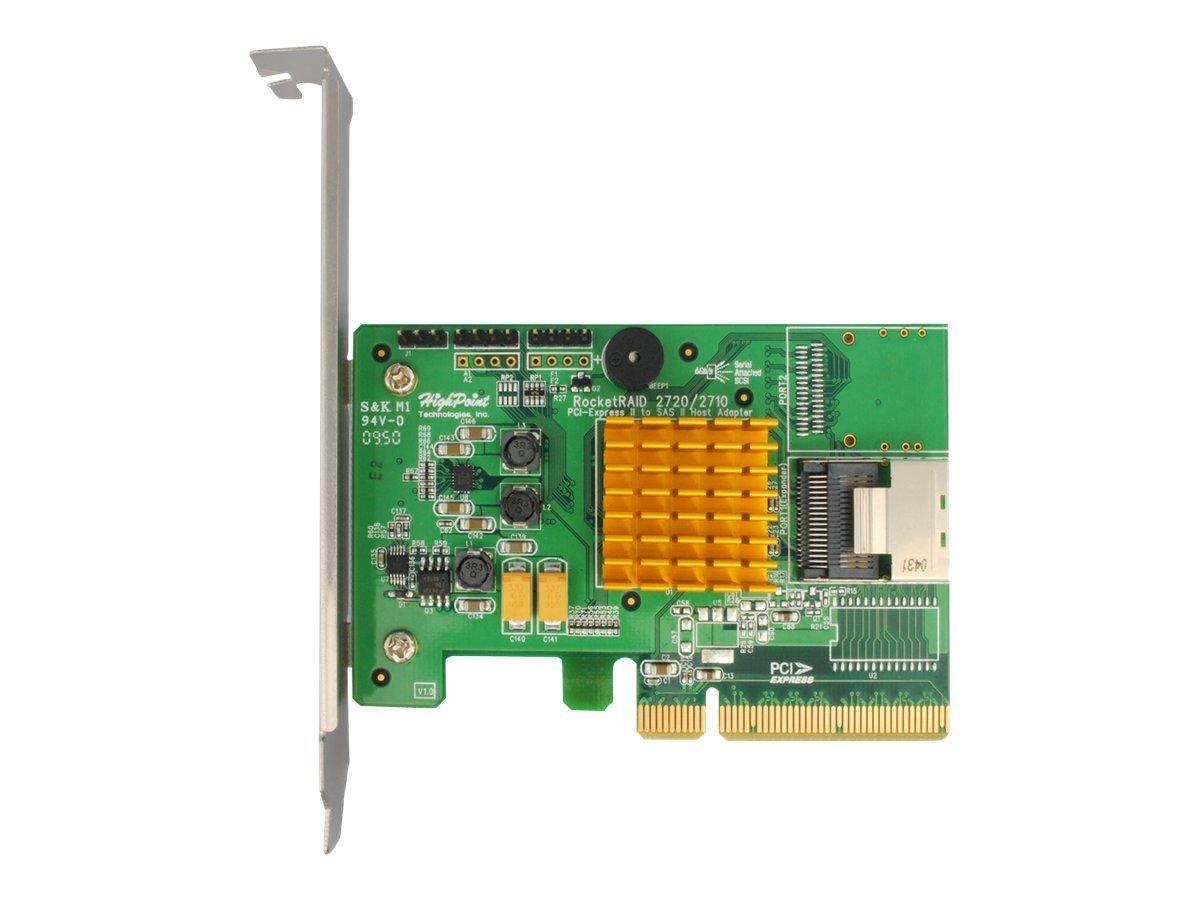 HighPoint RocketRAID 2710 4-Port SAS 6Gb/s PCIe 2.0 x8 RAID HBA