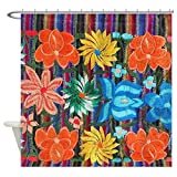 CafePress Mexican Flower Embroidery Decorative Fabric Shower Curtain (69''x70'')