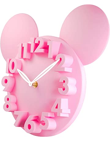 con meccanismo anti-ticchettio e design con colori allegri Cander Berlin diametro 30,5 cm orologio da parete per bambini MNU 1330 per imparare a leggere lora