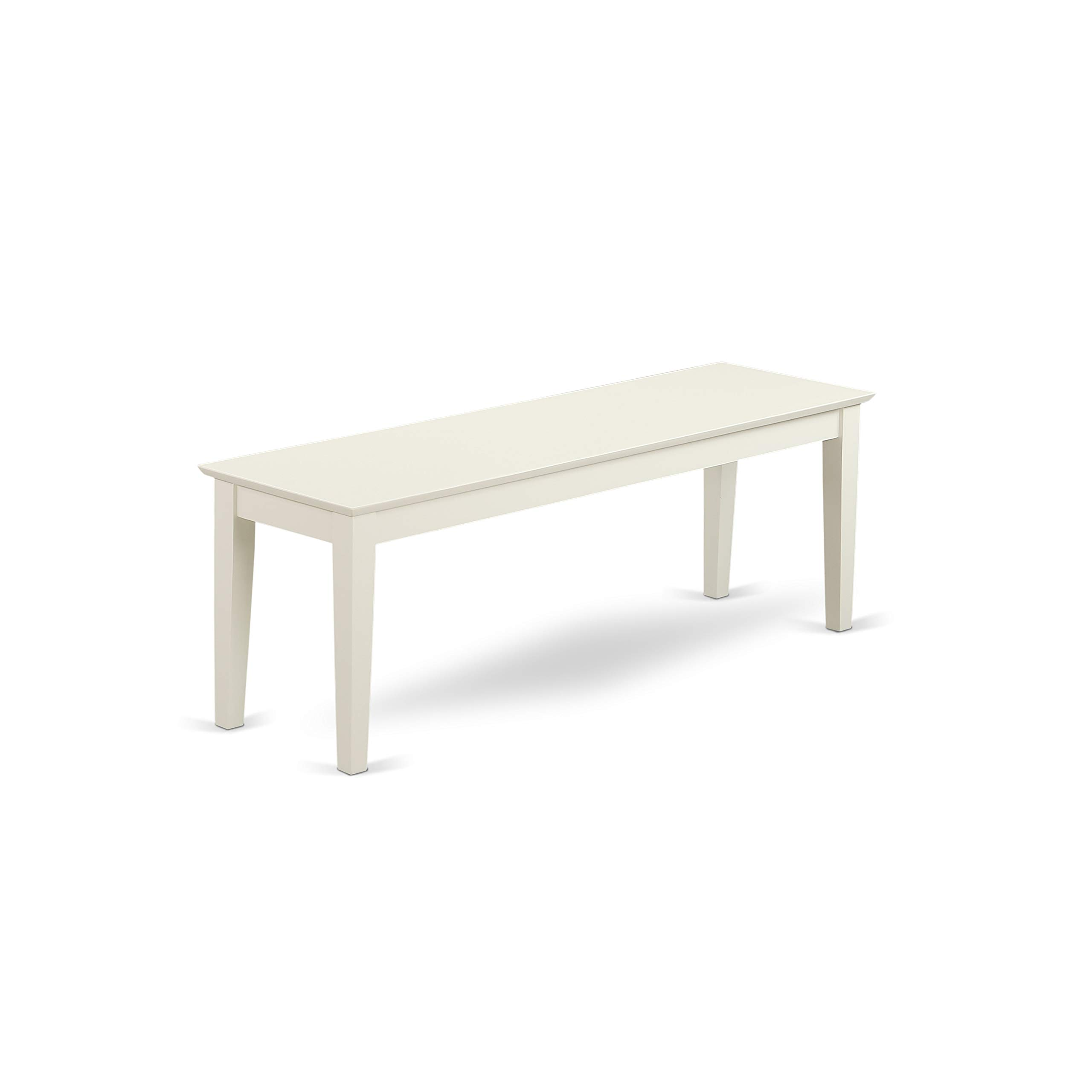 East West Furniture CAB-LWH-W Capri Bench, Linen White