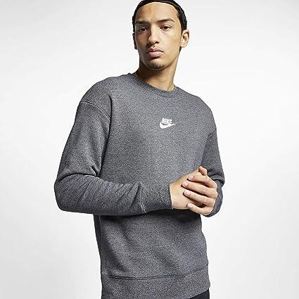 Nike Sportswear Heritage Fleece Sweatshirt Homme, NoirBleu