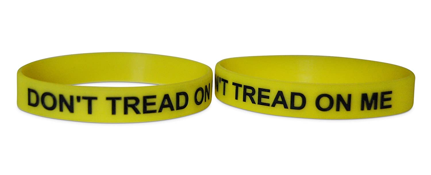 Novel Merk Dont Tread On Me 12-Piece Yellow Party Favor /& School Carnival Prize Silicone Rubber Band Wristband Bracelet Accessory