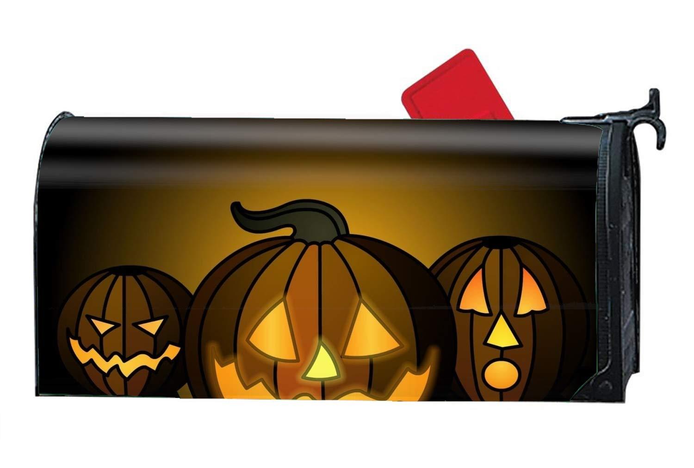 jiajufushi Halloween Pumpkin Show Mailbox Covers Garden Decoration - Seasonal Magnetic Cover