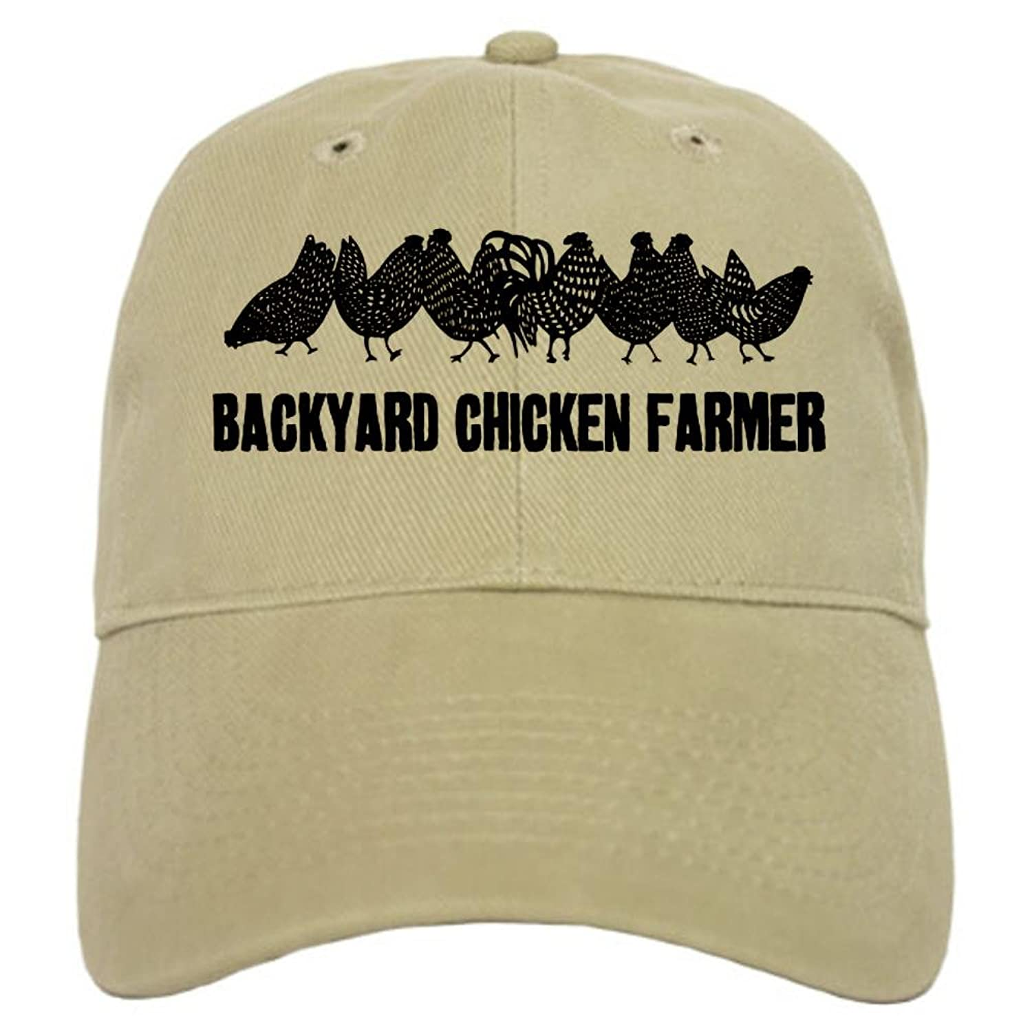 amazon com cafepress backyard chicken farmer cap baseball cap