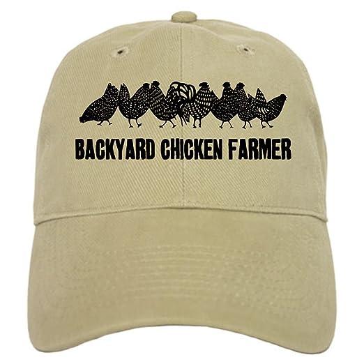 CafePress - Backyard Chicken Farmer Cap - Baseball Cap with Adjustable  Closure 651808e62d02