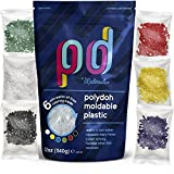 Polydoh Moldable Plastic + coloring granules for free! (12oz) [polymorph plastic pellets]