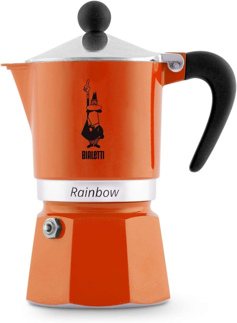 3 Tassen Aluminium Bialetti Rainbow Espressokocher hellblau