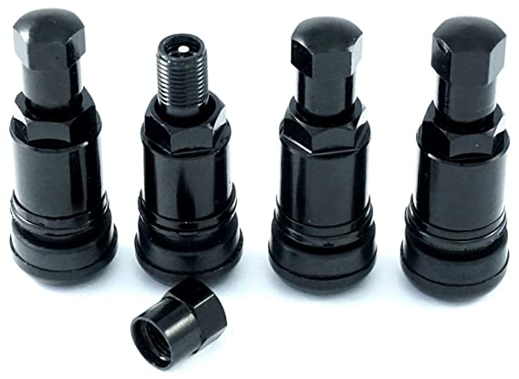 4 St/ück 11,3 Stahlventile Schwarz Ventile Felgenventile Metallventile