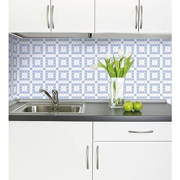 PVC 3D Wandplatte 955x480mm Küche Bad Diele Deko Mosaik Wandverkleidung Lila