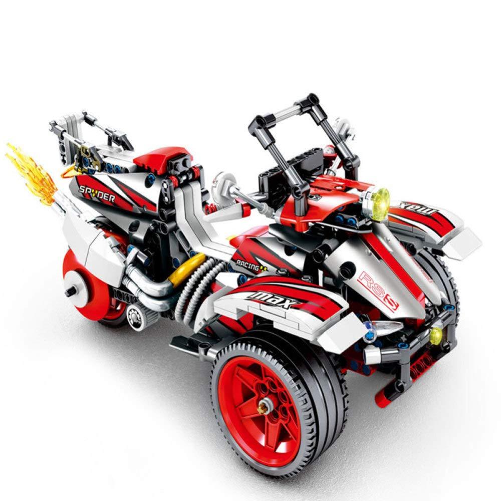 XDDQF Bausteine FüR Kinder,Kreative Puzzle Zusammenbauen Baustein Spielzeug Motorradmodell