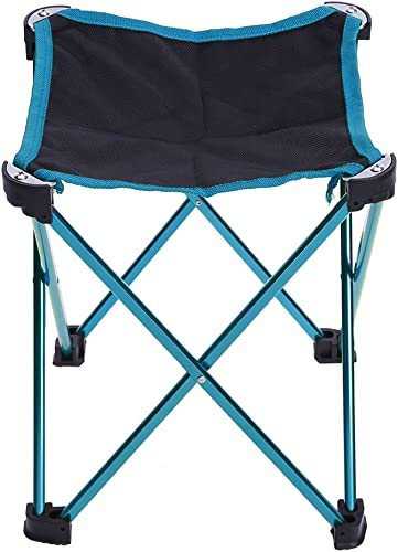 CIDEROS Slacker Chair Folding Stools Portable Blue Folding Outdoor Stool for Camping Fishing Travel Hunting Lightweight Stool Chair with Carry Bag