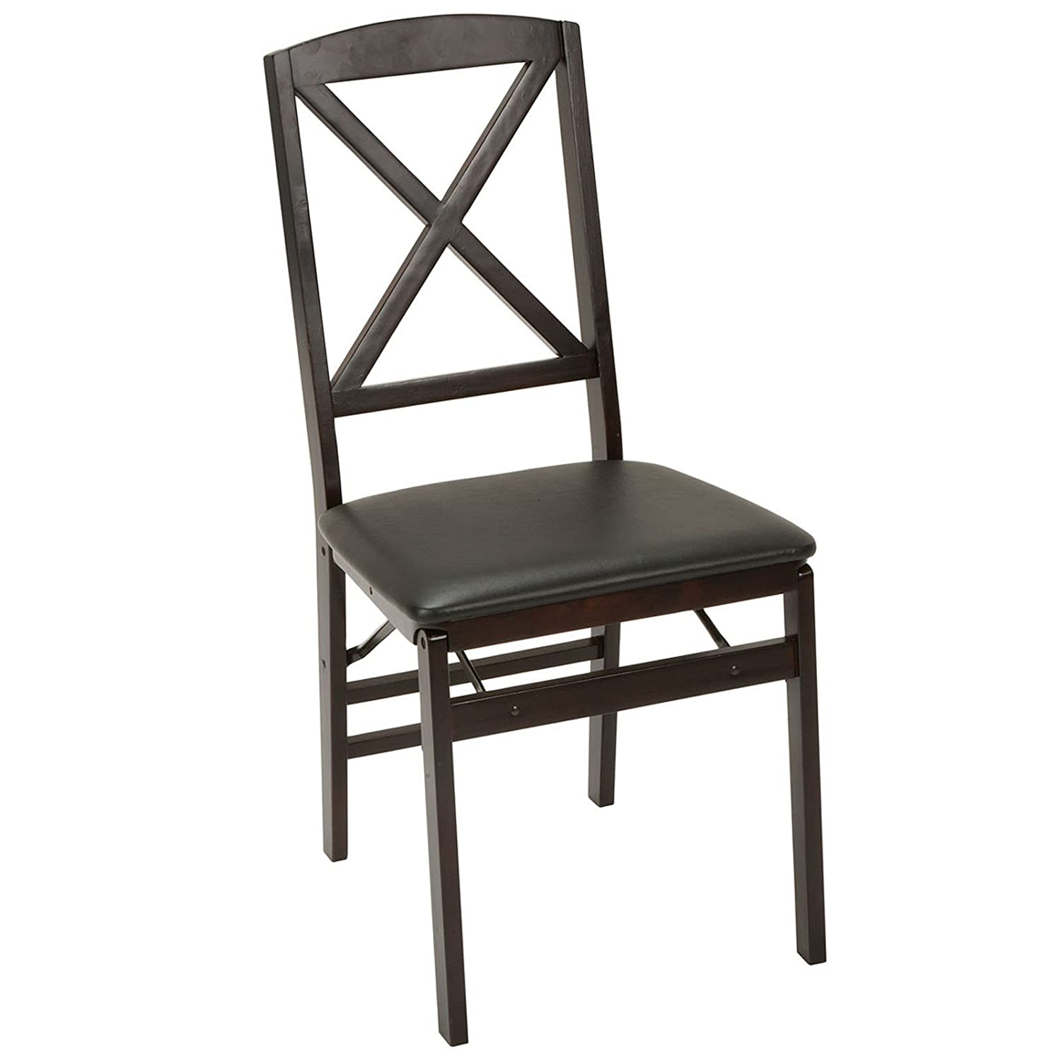 Wood padded folding chairs - Amazon Com 2 New Cosco Wood Vinyl Commercial Folding Chair 2 Pack Pair Chairs