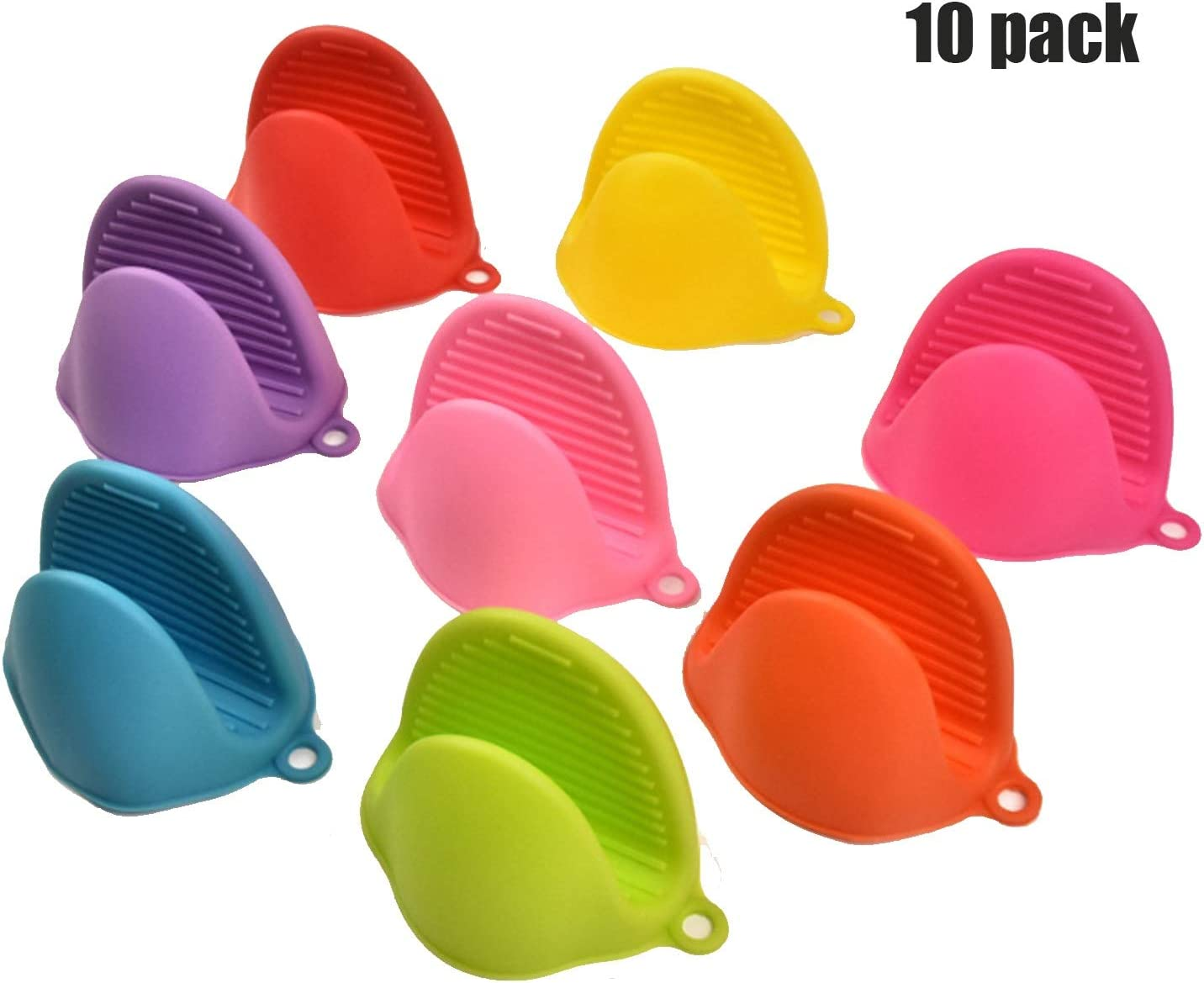 Man hongjia 10PCS Silicone Hot Pot Holder Oven Gloves Mini Oven Mitts Cooking Durable