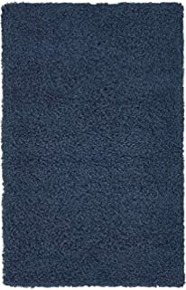 unique loom solid shag collection navy blue 3 x 5 area rug 3u0027 3