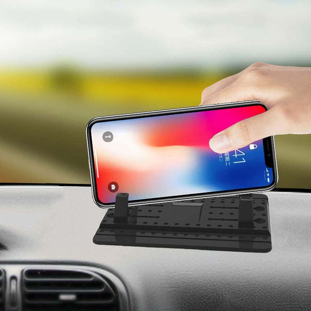 XIANGYANG Car Mobile Phone Holder Anti-Slip Silicone Car Dashboard Pad Car GPS Holder Mobile Phone Holder Universal Suitable for All Smartphones