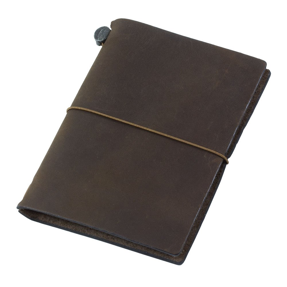 Midori Traveler's Notebook Journal Passport Size - Brown by Midori Way
