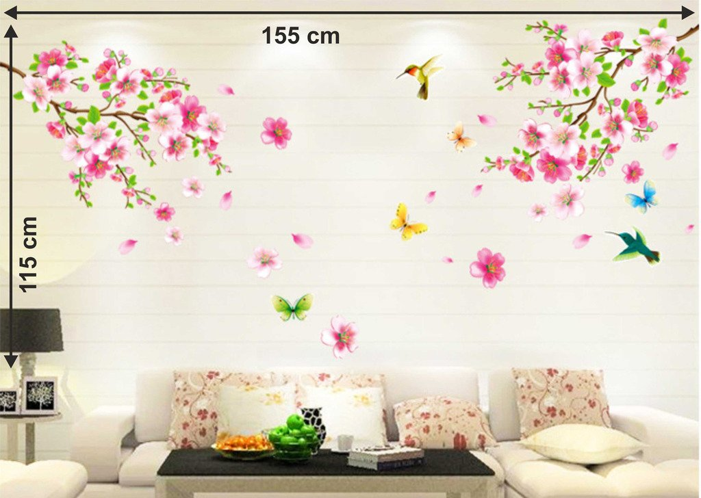 Buy Decals Design 'Flowers Branch' Wall Sticker (Pvc Vinyl, 60 Cm